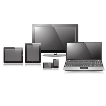 monitore: Blank Responsive Anzeige Set Vektor-Grafik-eps10