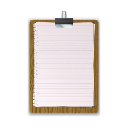 Beboste Klembord met gelinieerd papier grafische vectoreps10
