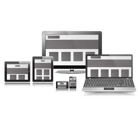 Responsive Layout Display Set graphic vector eps10 Vector
