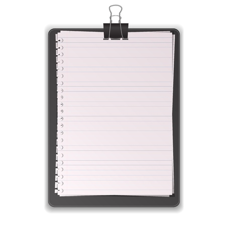 Black Clipboard With Paper Lined graphic vector eps10