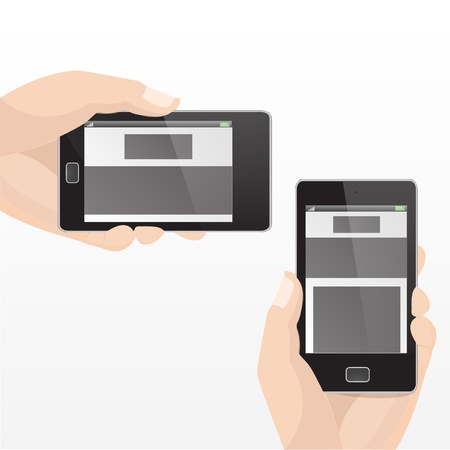 Responsive Mobile Horizontal and Vertical Set Graphic  Stock Vector - 18542432