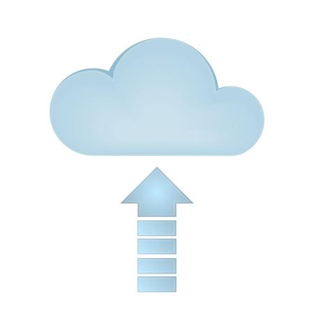 Cloud Upload  Graphic vector eps10 Illustration