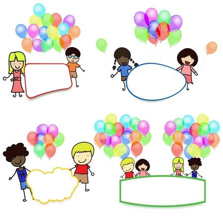 Label for children Activities for children  Stock Vector - 18700364