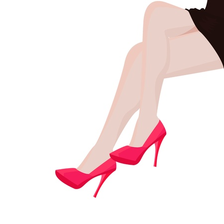 Girl Leg Graphic  Vector