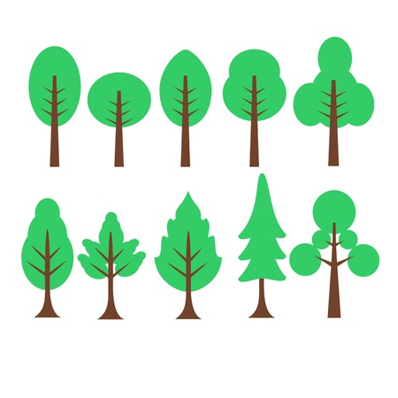 park icon: Cartoon Tree graphi illustration