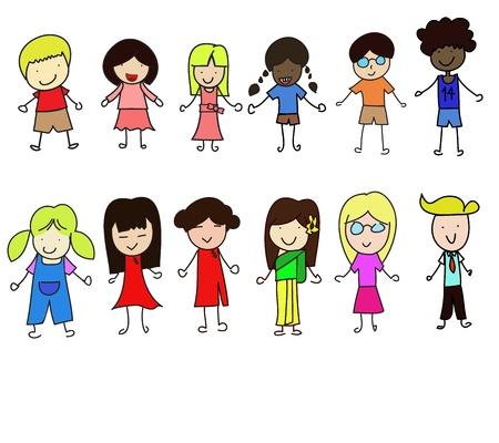 Children graphic  Stock Vector - 18700376