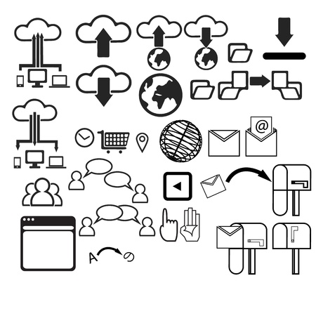 User Interface icon set graphic