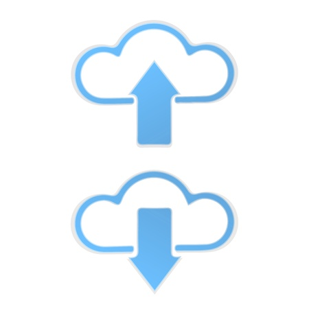 Cloud Upload and Download graphic