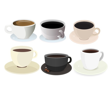 Coffee Cup Icon Set graphic vector eps10 Illustration