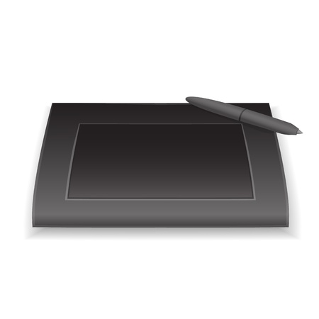 graphic tablet: graphic tablet and pen