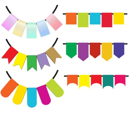 garland colorful for holiday Stock Vector - 18958117