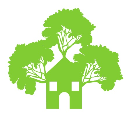 Green House tree concept graphic  Vector