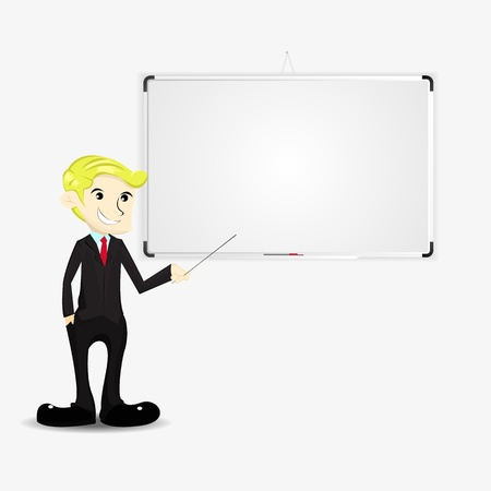 Businessman and whiteboard Stock Vector - 19079734