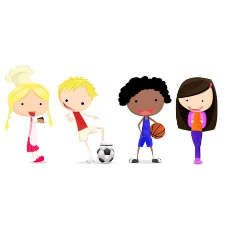 kids football: Children and happy hobby