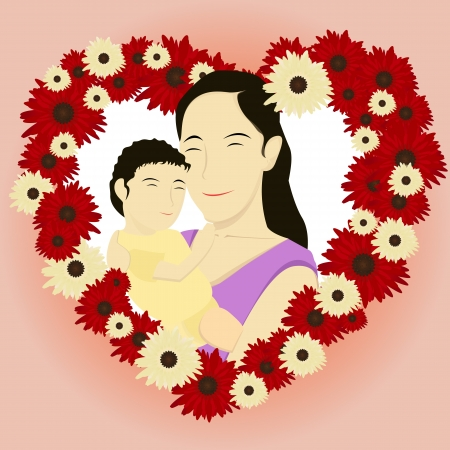 Happy Mothers Day Card Design Royalty Free Cliparts, Vectors, And ...