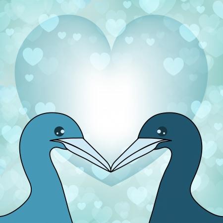 love couples: illustration of  swans in love   Illustration