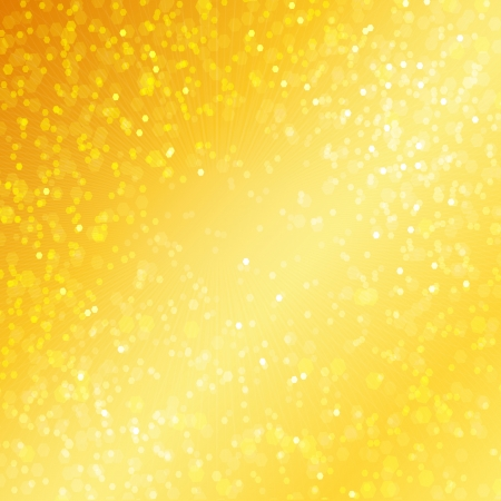 Golden background elegant abstract background with bokeh defocused lights Stock Photo