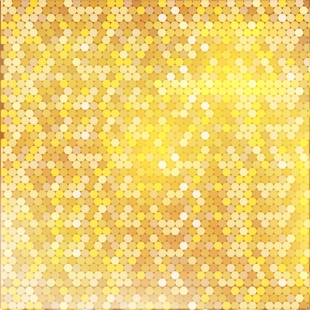 Pattern with mixed small spots on golden background. Seamless vector background