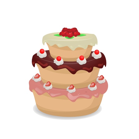 Cake graphic vector Stock Vector - 19753518
