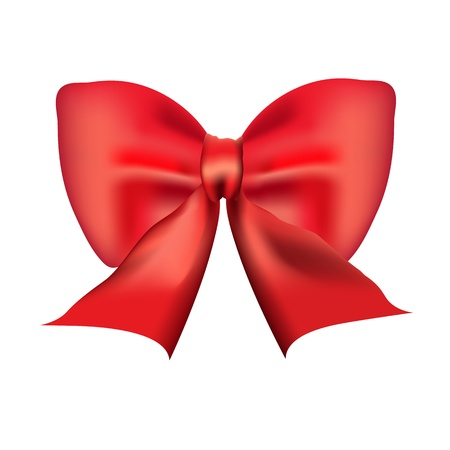 Red bow isolated on white background Stock Vector - 20365653