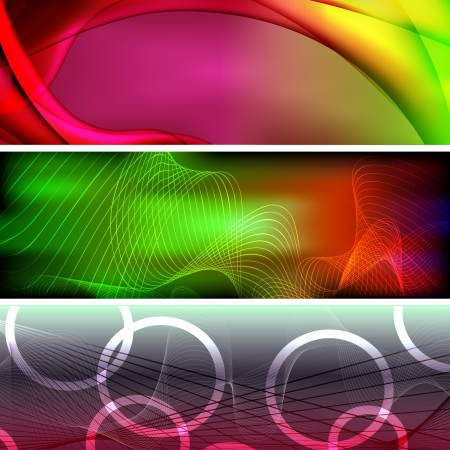 set of colorful vector banners Stock Vector - 20366289