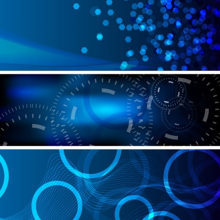 Collection of abstract technology and business backgrounds Stock Vector - 20457427