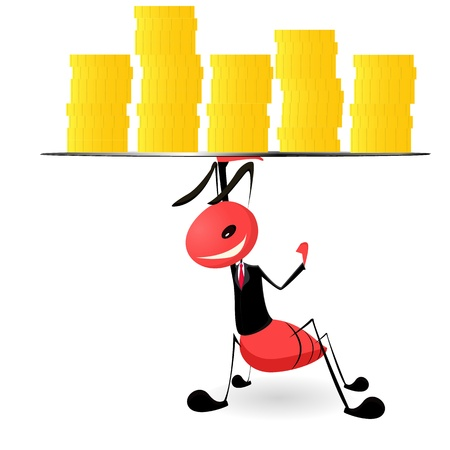 Ant business illustration graphic concept  Vector