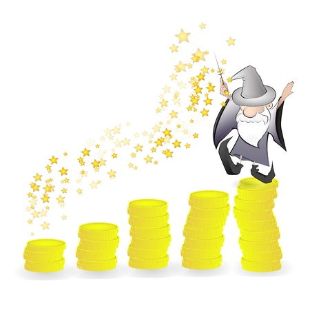 financial magic graph graphic vector eps10 Vector