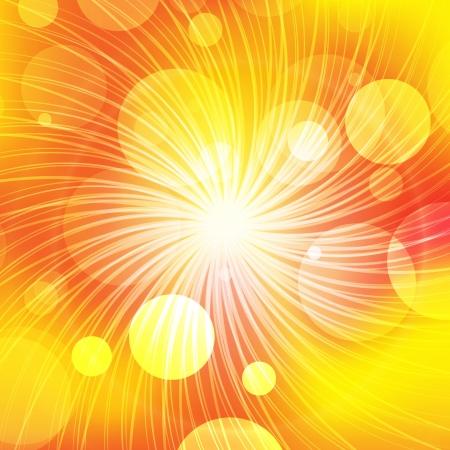 radiate: Vector Illustration of a Natural Orange Background Illustration