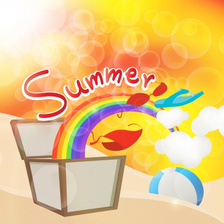 beach ball: summers box in holiday Illustration