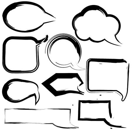 Set of hand drawn speech bubbles  Vector Vector