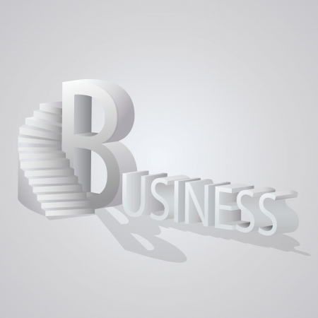 Business Stair graphic  Vector