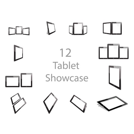 Tablet showcase graphic Stock Vector - 21637873