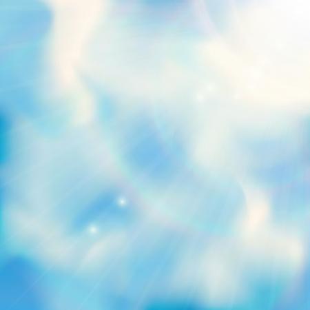 Blauwe hemel met wolken Vector achtergrond