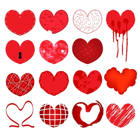 Valentine vector heart, love symbol, pattern, set pictogram Stock Vector - 21637886