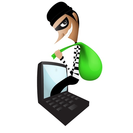 Thief Through the Internet graphic Vector