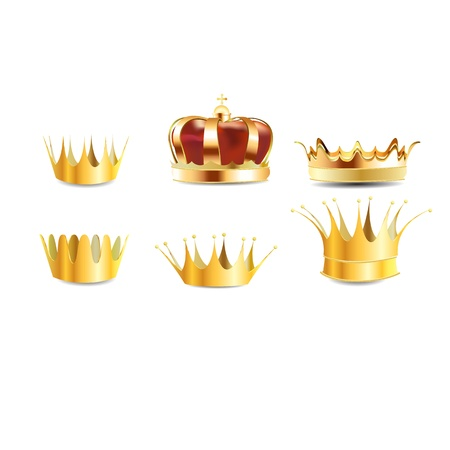 realistic gold heraldic crown embedded or coronet graphic Vector