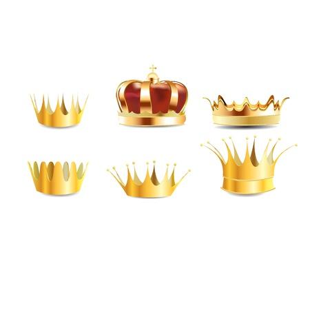 realistische gouden heraldische kroon ingesloten of kroon grafisch