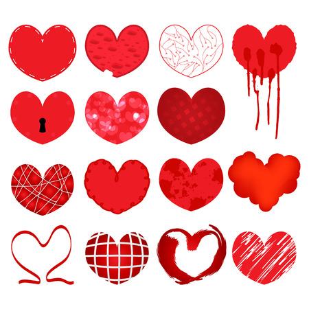 Set of symbol heart, vector Stock Vector - 22858948