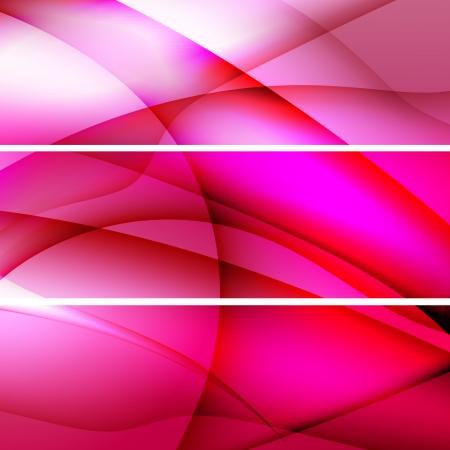 Set of Elegant  banners  Vector illustration Illustration