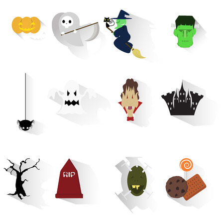 Set of Halloween images - vector illustration  Vector