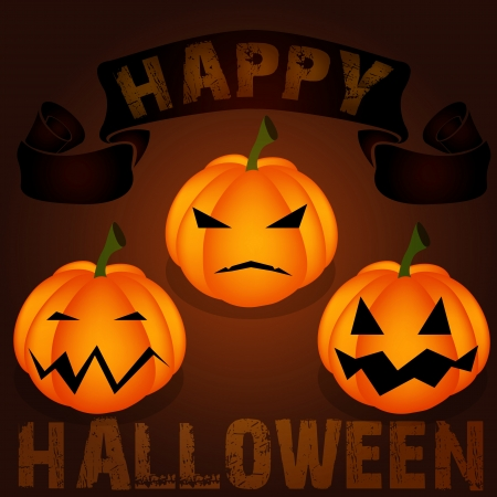 gossamer: Halloween night background with pumpkin