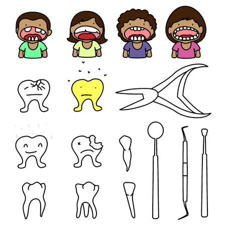 the smile kids and tool dentist Stock Vector - 23119321