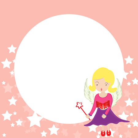 little fairy in copy space Vector