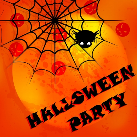 halloween invitation card Vector