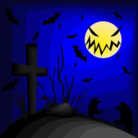 halloween desktop background Illustration