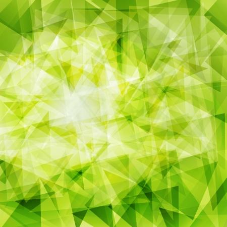 quadrati astratti: Sfondo verde astratto geometrico Vettoriali