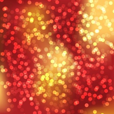 elegante: Luci rosse sfocato di sfondo per il giorno di Natale Vettoriali