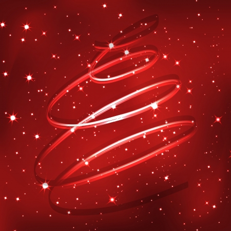 most beautiful christmas trees with luxury background Illustration