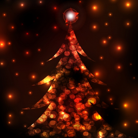 the living christmas tree art Vector for decoration in holiday